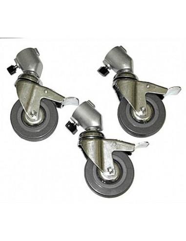 Juego 3 ruedas 80 mm. freno Delta 4-5-6